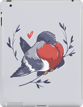 Red Heart Bird by Stanislava Korobkova