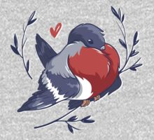 Red Heart Bird Kids Tee