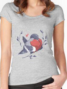Red Heart Bird Women's Fitted Scoop T-Shirt