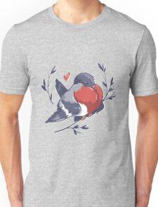 Red Heart Bird Unisex T-Shirt