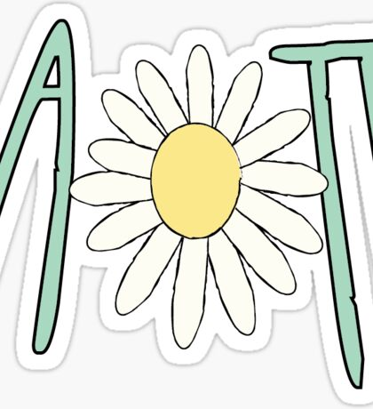 aopi flower Sticker