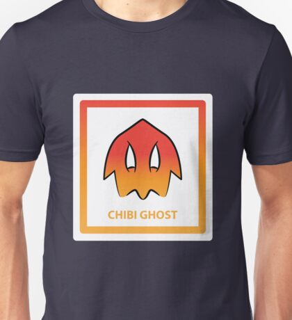 Chibi Ghost 3 Orange Unisex T-Shirt