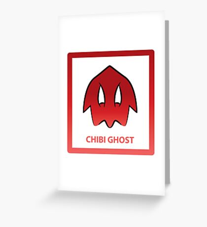 Chibi Ghost 4 Red Greeting Card