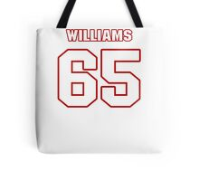 NFL Player Garry Williams sixtyfive 65 Tote Bag