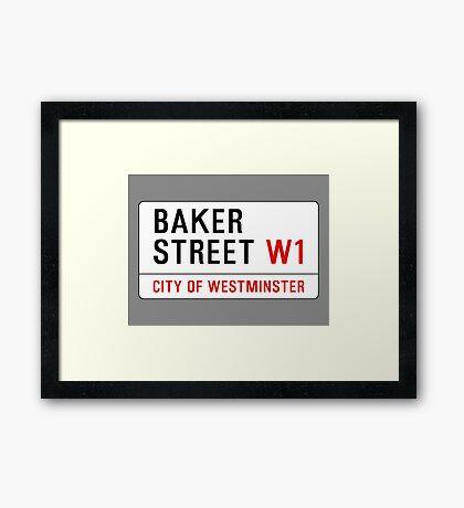 Baker Street Sign – 221B, Sherlock Framed Print