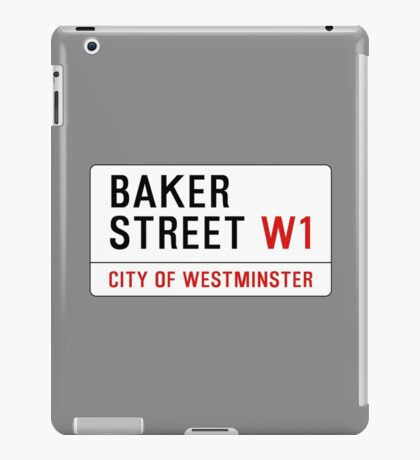 Baker Street Sign – 221B, Sherlock iPad Case/Skin