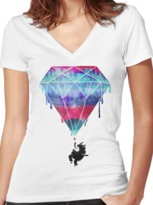 You Crazy Diamond Women's Fitted V-Neck T-Shirt