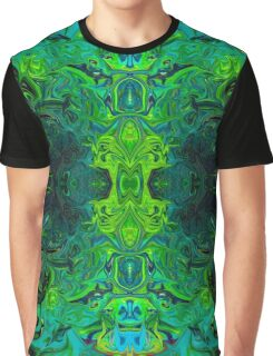 Bright Green Trippy Fun Graphic T-Shirt
