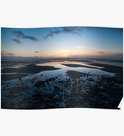 Beach Sunset North Wales Poster