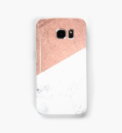 Rosegold and White Marble Samsung Galaxy Case/Skin
