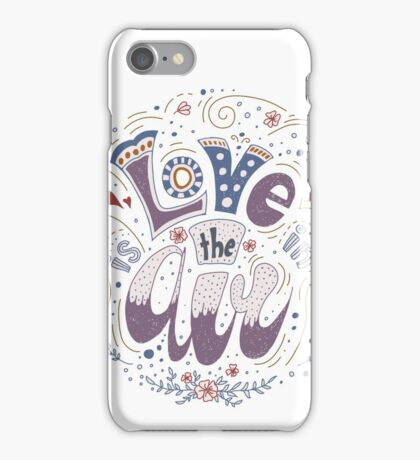 Illustration with Valentine's lettering iPhone Case/Skin