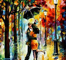 Dance Under The Rain — Buy Now Link - www.etsy.com/listing/166673443 by Leonid  Afremov