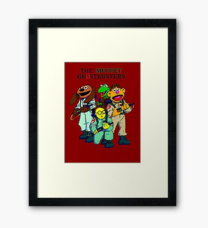 Muppet Ghostbusters Framed Print