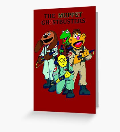 Muppet Ghostbusters Greeting Card