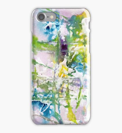 Blue and yellow abstract  iPhone Case/Skin