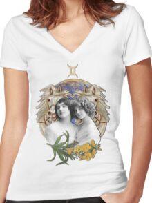 GEMINI Women's Fitted V-Neck T-Shirt