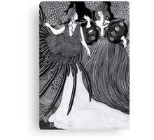 Girl dressed as a bird  Canvas Print