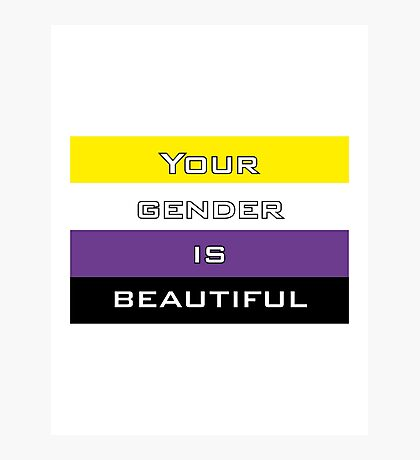 Gender is Beautiful Nonbinary Photographic Print