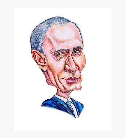 cartoon portrait of a man like Putin Photographic Print