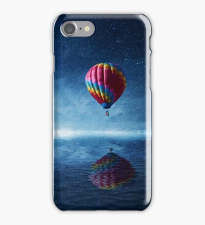 fly over the sea iPhone Case/Skin