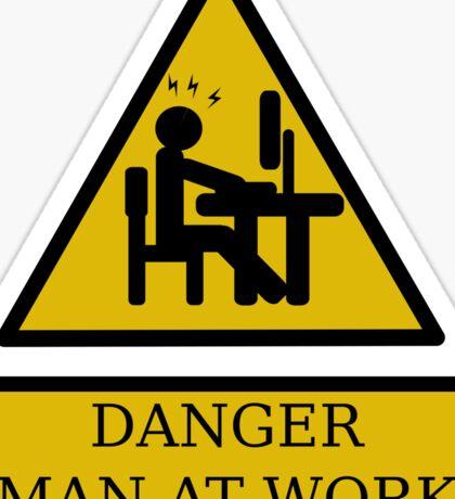 Men at work danger Sticker
