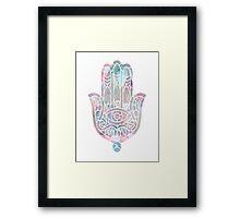 Pastel Crystal Hamsa Framed Print
