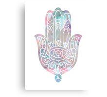 Pastel Crystal Hamsa Canvas Print