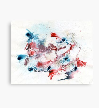 Red and blue abstract Canvas Print