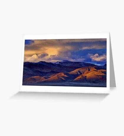 Palomino Valley Winter Sunset  Greeting Card