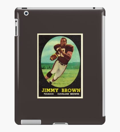 Jim Brown Cleveland Browns Rookie Card iPad Case/Skin