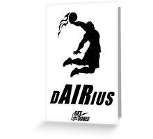 Darius DUNKED Greeting Card