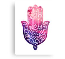 Pink and Purple Hamsa Canvas Print