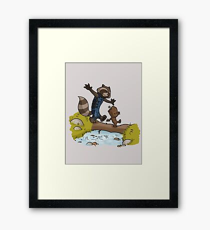 Rocket and Groot Framed Print