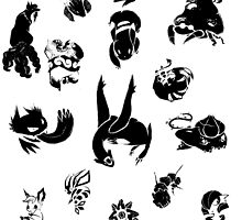Pokemon Inks Set by VertebrateCross