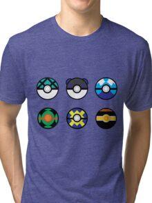 Pokeball Set 2 Tri-blend T-Shirt
