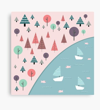 outdoor cute illustration Canvas Print