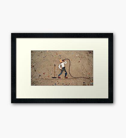 Singer I Framed Print