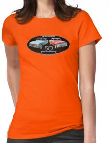XM Falcon 50 year anniversary (black background) Womens Fitted T-Shirt