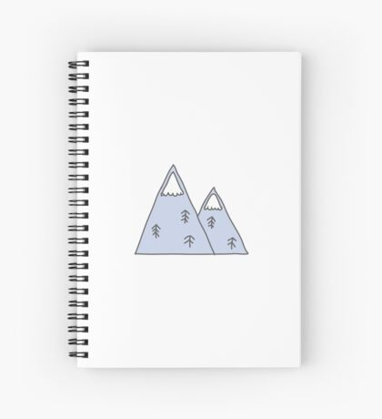 mountains illustration Spiral Notebook