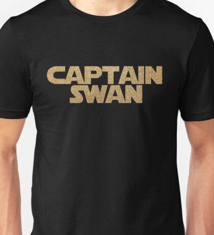 Captain Swan gold on black Unisex T-Shirt