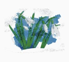 Watercolor snowdrops Kids Clothes