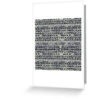 Grunge Music Score Pattern Greeting Card