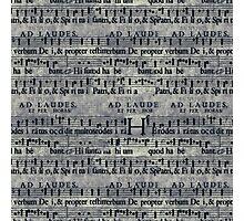 Grunge Music Score Pattern Photographic Print