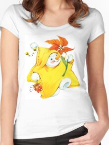 snowman. 01. New Year series Women's Fitted Scoop T-Shirt