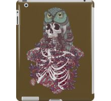 skeleton owl iPad Case/Skin