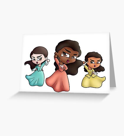 The Chibi Schuyler Sisters Greeting Card
