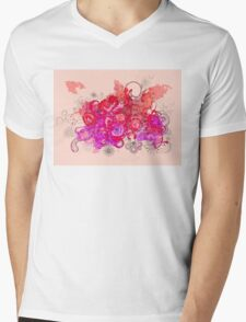 Watercolor swirls Mens V-Neck T-Shirt