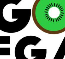 Go Vegan - Kiwi Edition Sticker