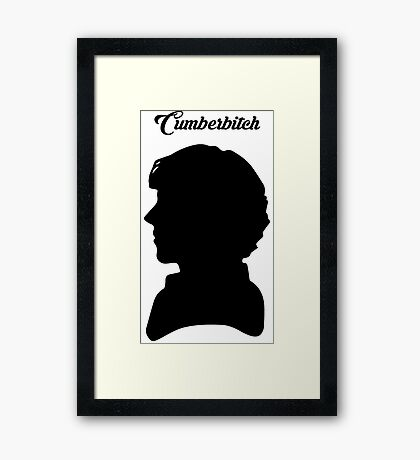 Cumberbitch - Sherlock TV Series/Benedict Cumberbatch Fan Framed Print