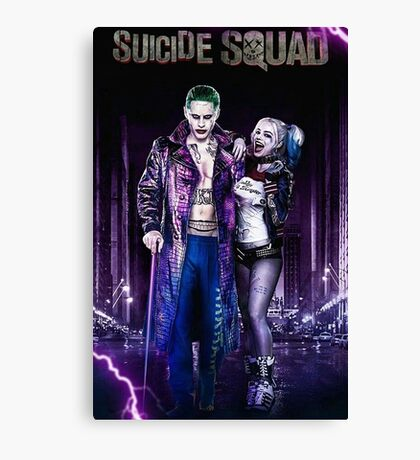 Harley Quinn & The Joker Canvas Print